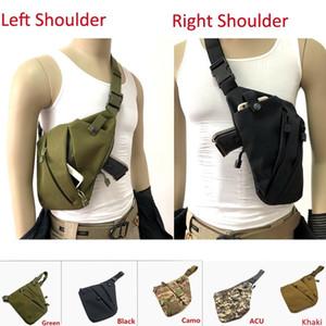 Tactical Multifunctional Concealed Storage Gun Bag Holster Left Right Shoulder Bags Anti-theft Bag Chest Bag for Hunting
