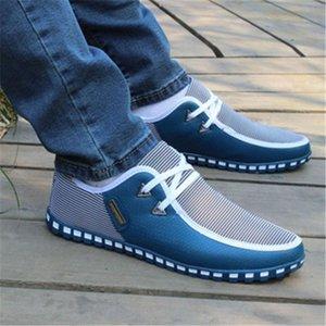 2018 Moda de Nova Men Casual Shoes Lace-Up resistente Masculino calçado Homens verão respirável sapatos de lazer Homens de condução