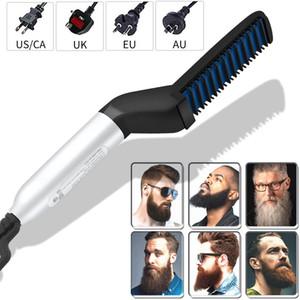 Multifonctionnel Peigne Barbe Brosse Lisseurs Redresser Barbe électrique redressage peigne rapide Cheveux Styler pour les hommes
