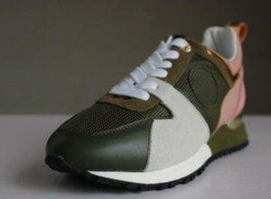 Eur Senhora nova moda de couro genuíno chegada de luxo cor misturada caixa nenhum original verdes as sapatilhas das mulheres Designer sapatos casuais 8wws
