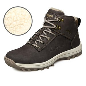 Snow Boots Outdoor Large Size Snow Boots Warm and Velvet Cotton Shoes Mens Sneakers Non-slip