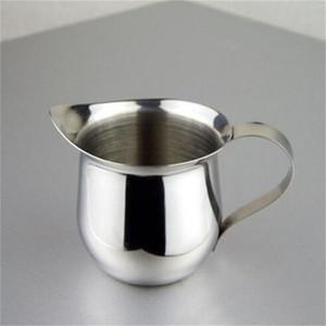 En acier inoxydable Dessiner Fleur Coupe Sharp Langue Milkshake Tasses Avec Poignée Café Lait Tasse Nouvelle Arrivée 8 5jg L1
