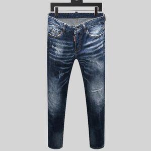 Fashion Skinny Jeans Men Straight slim elastic jeans Mens Casual Biker Male Stretch Denim Trouser Classic Pants #BG55