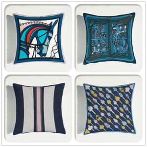 De lujo de Europa del amortiguador del sofá del terciopelo suave cubierta decorativa de impresión de la moda Throw almohada almohada cubierta decoración del hogar