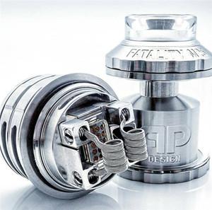 Serbatoio QP Designs Fatality M25 RTA 1: 1 Diametro 25mm Capacità 4 ml / 5 ml doppia bobina singola 810 Drip Tip riempimento superiore Serbatoio RTA rigenerabile Vape