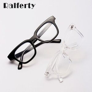 Ralferty Kadın Gözlük Çerçevesi Reçete Bilgisayar Gözlük Kare Optik W95045 Engelleme Şeffaf Mavi Işık Glasses