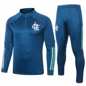 Flamengo green blue Survetement Brazil clup Tracksuit 2021 Men's Tracksuits GUERRERO DIEGO EDERSON JR E.RIBEIRO Soccer training suit