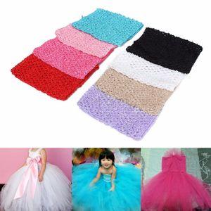 "New 1Pc 9"" Crochet Tube Top Elastic Waistband Headband Hair Band Girls Tutu Skirt"