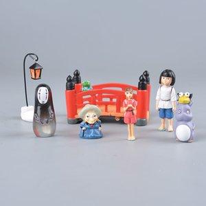 Koteta japonês Anime Studio Ghibli A Viagem de Chihiro Filme Chihiro No Man face do modelo Mini Action Figure Miyazaki Hayao Decoração