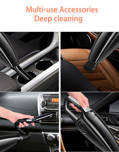 Handheld Car Vacuum Cordless Powerful Cyclone Suction Portable Rechargeable Vacuum Cleaner Quick Charge for Car Home Pet Hair
