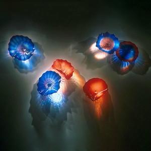 Оптовая Creative Design Hand Made УБИРАЕМОЙ Тарелку стекло цветка для украшения стены украшения стены УБИРАЕМЫХ пластин стекла