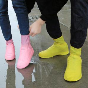 1pair = 2adet Su geçirmez Yağmur Yeniden kullanılabilir Ayakkabı All Seasons Kayma dirençli Kauçuk Yağmur Boot galoş MenWomen Ayakkabı Aksesuar Kapaklar