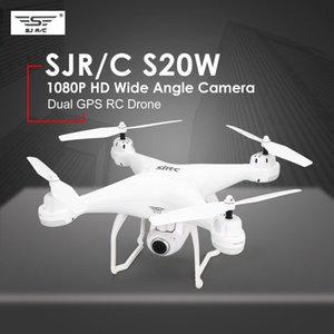 SJ R C S20W Headless Mode Auto Return Takeoff Landing Hover GPS RC Quadcopter FPV 720P 1080P Camera Selfie Altitude Hold Drone T191202