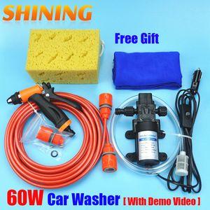Envío de alta presión autocebante eléctrico Car Wash Lavadora bomba de agua 12V LAVADORA encendedor de cigarrillos