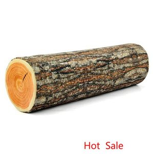 Wholesale Free Shipping 1Piece Green Log Pillow Wood Grain and Wood Throw Pillows 43*13cm