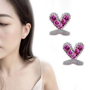 Korean red love ear nail temperament mini-heart-shaped small ear nail personality creativity and sweetness
