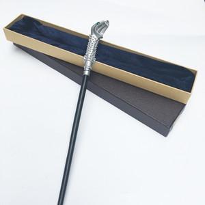 Mais novo Núcleo De Metal Mais Novo Qualidade de Luxo Harry Potter Lúcio Malfoy Varinhas Mágicas / vara Com Embalagem Da Caixa de Presente J190427