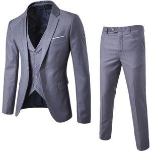 Abiti Blazers uomo caldo del vestito convenzionale di affari di svago Abito Slim Fit Gilet Tre pezzi sposo dei migliori uomini di