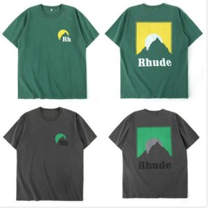 Mens Designer T Shirt Men Women Streetwear Casual High Street Tshirt Cotton Couple Top Tees RHUDE T-shirts B70