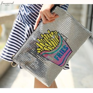 Blingbling Fashion Personality Fringe Sequins Casual Female Envelope Bag Handbag Clutch Womens Crossbody Messenger Bag Purse