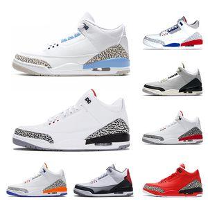 Nike Air Jordan 3 Retro 2019 Мужская 3 3s Баскетбольная обувь Новый черный цемент Катрина Тинкер JTH NRG Top III Дизайнер Спортивные кроссовки Размер 41-47