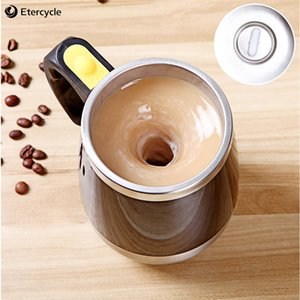 Electric Self Stirring Coffee Mug Lazy Auto Magnetic Mug Juice Coffee Milk Mixing Stainless Steel Double Insulated Travel Cup
