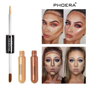 Phoera Sculpt & Highlight Face Duo Liquid Concealer and Bronzing Stick 2 in 1 highlighter Double-End Concealer Face Makeup 5 colors