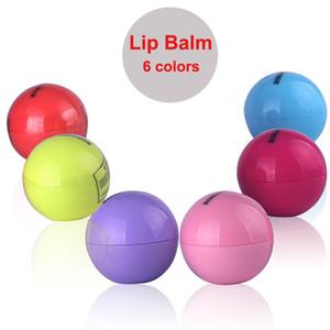 لطيف جولة الكرة مرهم الشفة 3d 6 ألوان lipbalm نكهة الفاكهة الشفاه قبلة ترطيب الشفاه العناية الطبيعية بلسم الشفاه شحن مجاني