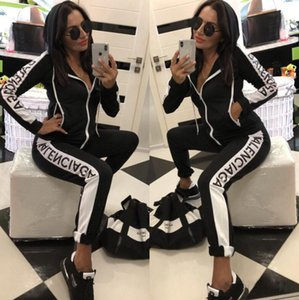 Femmes Designer Survêtement à manches longues T-shirt Pantalons 2 Piece Set Collants Leggings Vêtements de sport Marque Gym Costumes Vêtements femme Vêtements