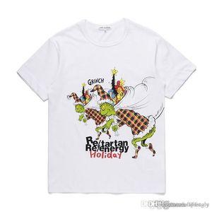 2018 Neuesten COM Großhandel Neue beste Qualität CDG New Hot HOLIDAY PLAY 1 T-Shirt weiße gestreifte Polka Größe L rasche Entscheidung F / S