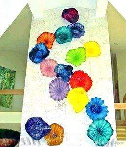 Handgemachte gebranntes Borosilicatglas Wall Plates Mouth Blown Moderne dekorative Glaswandplatten Hand geblasenem Glas-Lampen