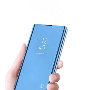 Pour Samsung S20 Ultra S21 S10E S10 Plus Smart Mirror Flip Kickstand Coque de téléphone pour Samsung Note20 Note10