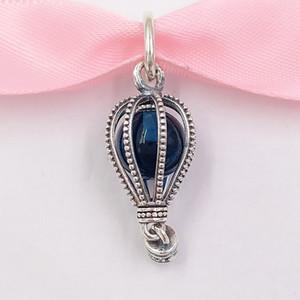 Authentic 925 sterling silver perline aerostato a mongolfiera ciondolo fascino charms adatti ai braccialetti di gioielli in stile Pandora europeo collana 798064NMB