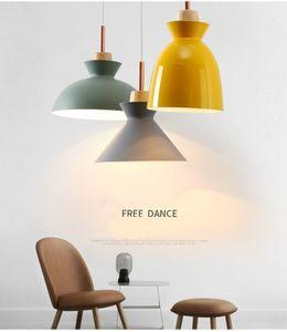 Современные лампы Люстра Массивная Современный Минималистский стиль Macaron Креативный Спальня Столовая Гостиная Hangling Lamp
