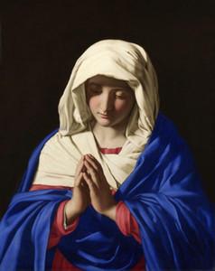 BELLA VERGINE MARIA signora Dio santo Signore Gesù Home Decor Artigianato / HD Stampa della pittura a olio su tela di canapa di arte della parete della tela di canapa Immagini 200220