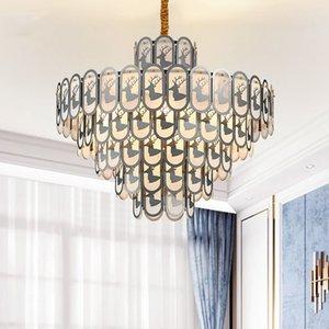 Décorations de Noël moderne en cristal d'or Petite ronde Lustre pour salle à manger Chambre Chambre Lustres de Luminaires