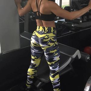 Открытый Йога Брюки спортивные гетры Желтый Розовый Оранжевый Зеленый полиэстер M ~ 3XL женщин Lady Summer Sexy Yoga Wear