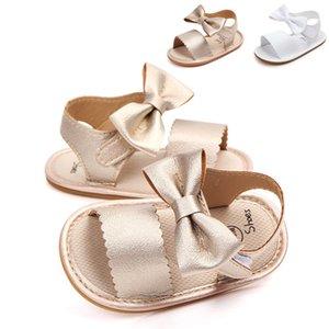 Pudcoco Summer Newborn Baby Girl Shoes Bowknot Princess Sandals Soft Sole Shoes Prewalker