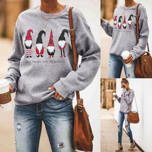 Designer Sweatshirts Mode en vrac de Noël Imprimer Femmes Sweatshirts Casual Crew Neck Les femmes Vêtements pour femmes le jour de Noël