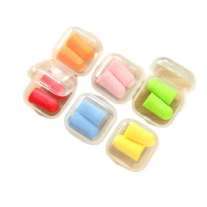Free Shipping bullet shape Foam Sponge Earplug Ear Plug Keeper Protector Travel Sleep Noise Reducer