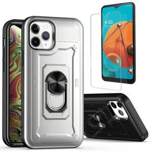 For Samsung Galaxy S20 Ultra Plus Armor Bracket Phone Case Shockprooof Protective Shell Combo Case+ Clear Tempered Glass