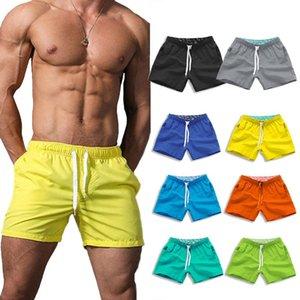 Boardshorts hombres de los cortocircuitos del verano transpirable de secado rápido pierna de largo S-XXXL más el tamaño de los cortocircuitos masculino sólido lazo de la playa de los cortocircuitos de los hombres