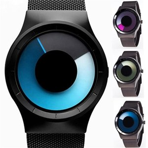 Creative Whirlpool Watch Luminous Simple Men and Women Students Business Swirl Watch Stainless Steel Mesh Watch Fashion Watches Shape Round