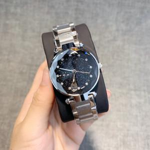 2019 hochwertige mode damenuhr roségold / silber / schwarz edelstahl luxusuhr sexy dame armbanduhr beliebte modelle mit diamanten