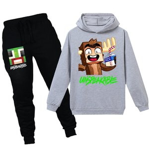 New UNSPEAKABLE Game Cartoon Print Hoodies Kids Clothes Baby Boy Spring Sports Girls sweatshirt Pants 2pcs Costume Suits T shirt