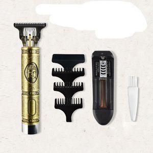 Новый Закрыть резки цифровой триммер волос аккумуляторная электрическая машинка для стрижки волос Gold Парикмахерское Cordless 0mm T-лопастной напролом Структуризатор Мужчины