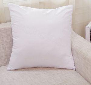 Bianco sublimazione Copricuscino calda di stampa di calore copertine vuote cuscini senza inserto incrementarne 40x40cm 45 * 45cm fai da te FFA3458C plillow Cuscino