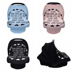 Mama Nursing Abdeckung Schal Feeding Baby Car Seat Canopy Warenkorb Abdeckung Multifunktions-Cape Stillen DDA1306