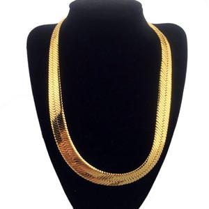 HipHop Mens Елочки цепь лезвия цепи ожерелье золото Рок коренастых цепи мальчики Рэпер NightClub DJ Ювелирные аксессуары