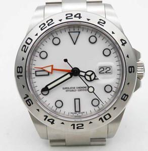Mens Edição Limitada BP Criador 42 milímetros Explorador 216570 Stainless Steel Ásia 2813 mostrador branco Os relógios mecânicos automáticos dos homens Relógios do relógio